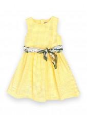 Платье с декоративным платком